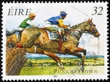 Horse Race On Irish Postage St...