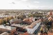 Historischer Campus der Universität Greifswald von oben