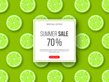 Summer Sale Banner With Sliced...