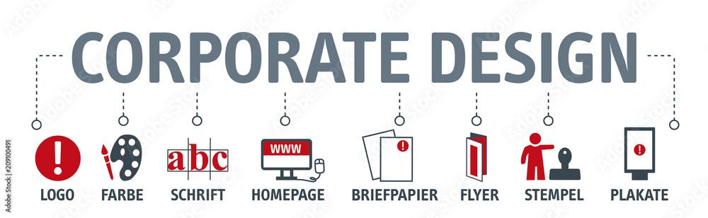 Fototapeta Banner corporate design