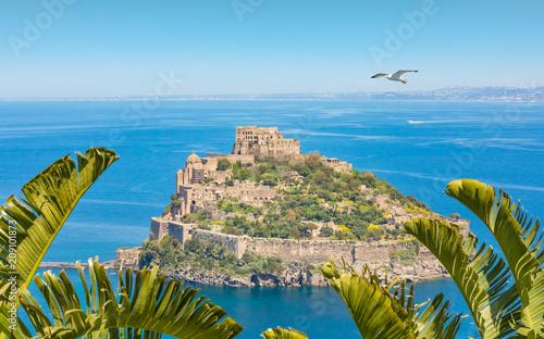 Foto op Canvas Europa Castello Aragonese - famous landmark near Ischia island, Italy