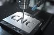 canvas print picture - 3D-Illustration CNC Metalfräse