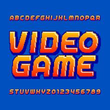 Retro Computer Game Alphabet F...