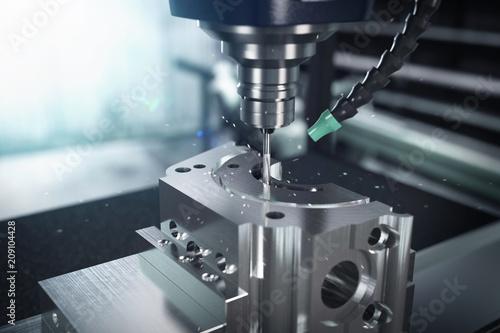 Obraz 3D-Illustration Fräskopf Metalverarbeitung - fototapety do salonu