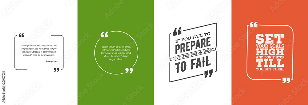 Fototapety, obrazy: Remark Quote Template Bubble. Template Vector Set.