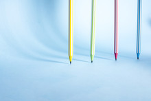Four Striped Colored Pencils S...