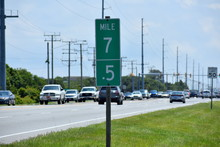 Mile Marker 7 And 7.5 On Outer...