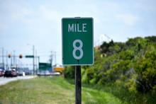 Mile Marker 8 Sign On Outer Banks North Carolina