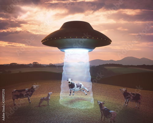Photo Alien abduction on the farm