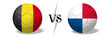 canvas print picture - Soccer championship - Belgium vs Panama