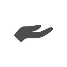 Open Hand Icon. Vector Illustr...
