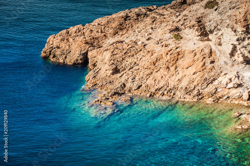 Fotobehang Kust Greek sea coastline, seascape