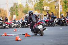 Motorbike Driver Riding Bike O...
