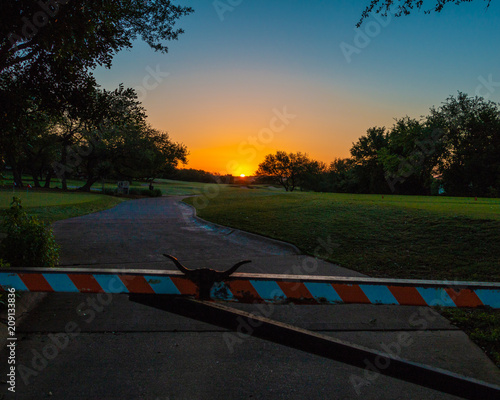 Poster Texas Sunrise on the Green Texas