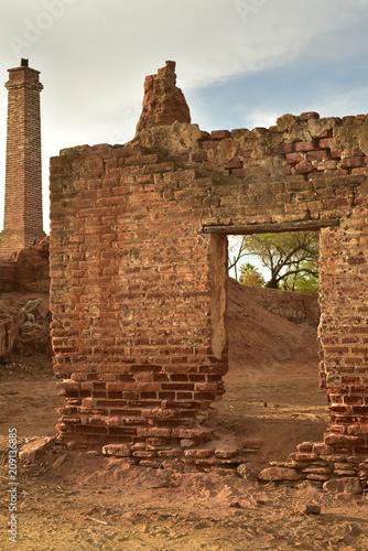 Fotografie, Obraz  old sugar mill ruins in Todos Santos, Baja, Mexico
