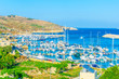 Fishing boats moor in Mgarr, Gozo, Malta
