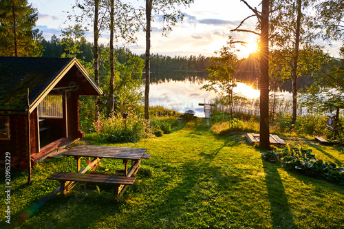 Summer holidays in Finland Wallpaper Mural