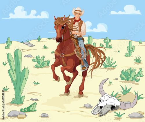 Poster Magie Horse Riding Cowboy
