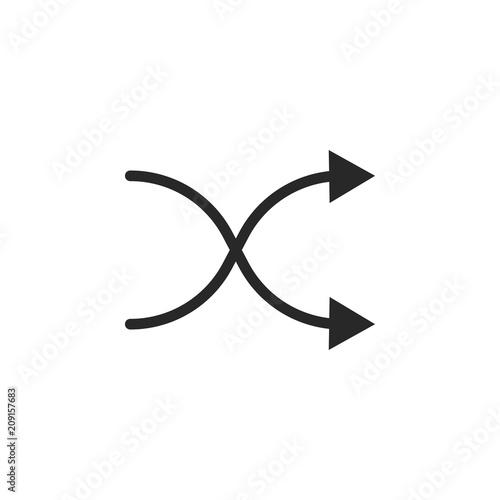 Fotografie, Obraz Shuffle vector icon