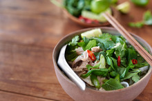 Bowl Of Asian Chicken Noodle S...