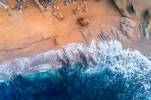 Aerial View Of A Rocky Wild Be...