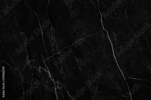 Fotografering  Black marble natural pattern for background, abstract natural marble black and w
