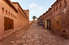 Typical Street Of Ouarzazate. Morocco