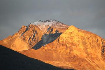 Sunset On Mount Tekarra, Jasper National Park, Alberta