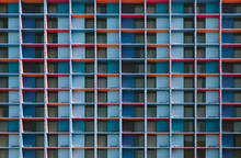 Modular Colorful Facade Background