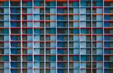 Modular Colorful Facade Background