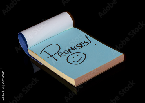 notepad reminds you to keep your promises Canvas Print