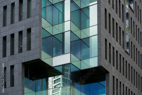 Abstract modern building detail.