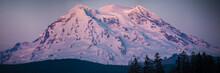 Mt Rainier Sunset Panorama Blurry Vignette Zoom
