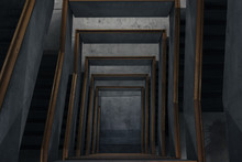 Below Shot Of Spiral Stairs
