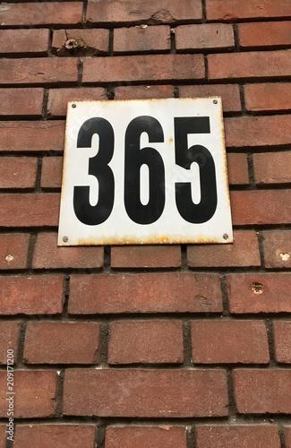 Fényképezés  Haus nummer 365 in Amsterdam