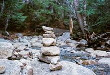 Rock Stack In The Mountains