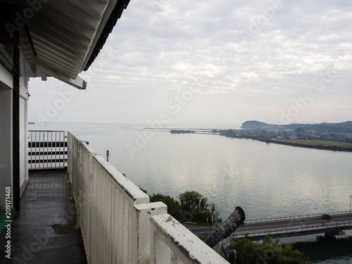 Foto op Plexiglas Japan Kitsuki, Japan - October 31, 2016: Kitsuki city, panoramic view from the top of Kitsuki castle