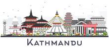 Kathmandu Nepal Skyline With G...