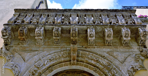 Canvas Prints Artistic monument characteristic historic buildings nardò salento italy