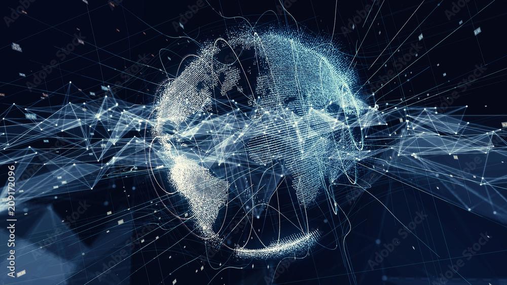 Fototapeta Global communication network concept.
