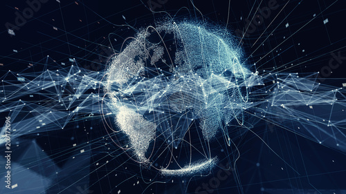 Fototapeta Global communication network concept. obraz