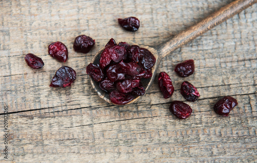 Dried cranberries on a table