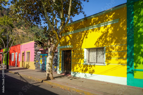 In de dag Centraal-Amerika Landen Santiago city street in Bellavista, Chile
