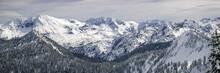 Snowy Cascade Mountain Range B...