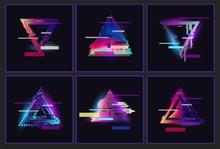 Glitched Triangle Frame Design...