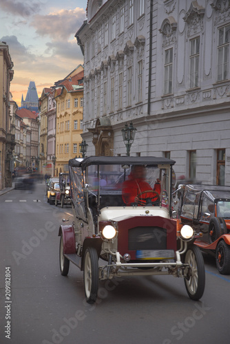 Photo  beautiful old streets of Prague.