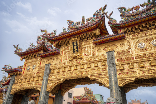 Deurstickers Bedehuis donggang, pingtung,taiwan - June 1,2018 : Dong-Long Temple Faith which is culture center in donggang in pingtung