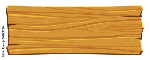 Canvas Print cartoon wood board