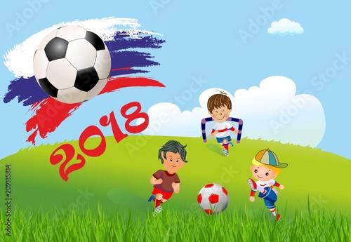 Fototapeta Piłka nożna w Rosji obraz
