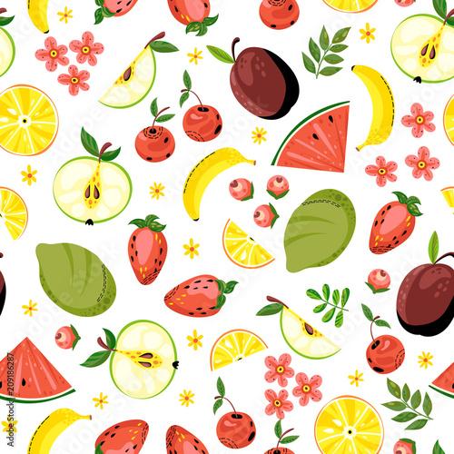 Jasne tło z owocami